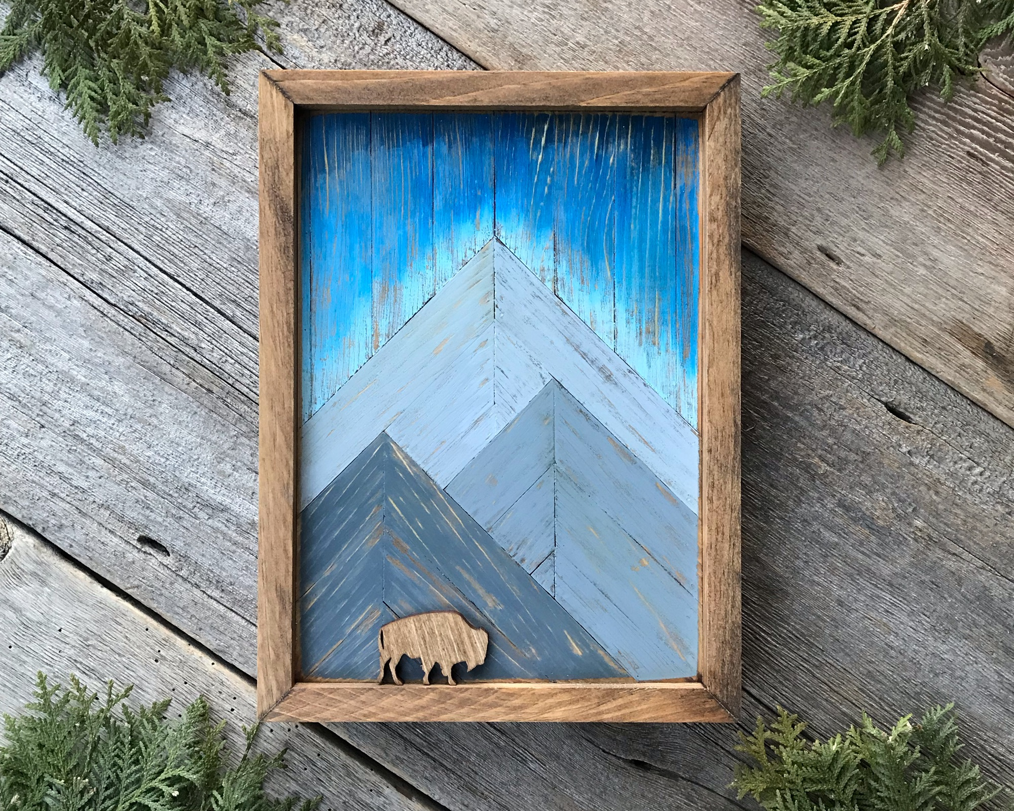 Mountain Wall Art, Wilderness and Wildlife Art, Rustic Home Decor for Cabin or Mountain Lodge