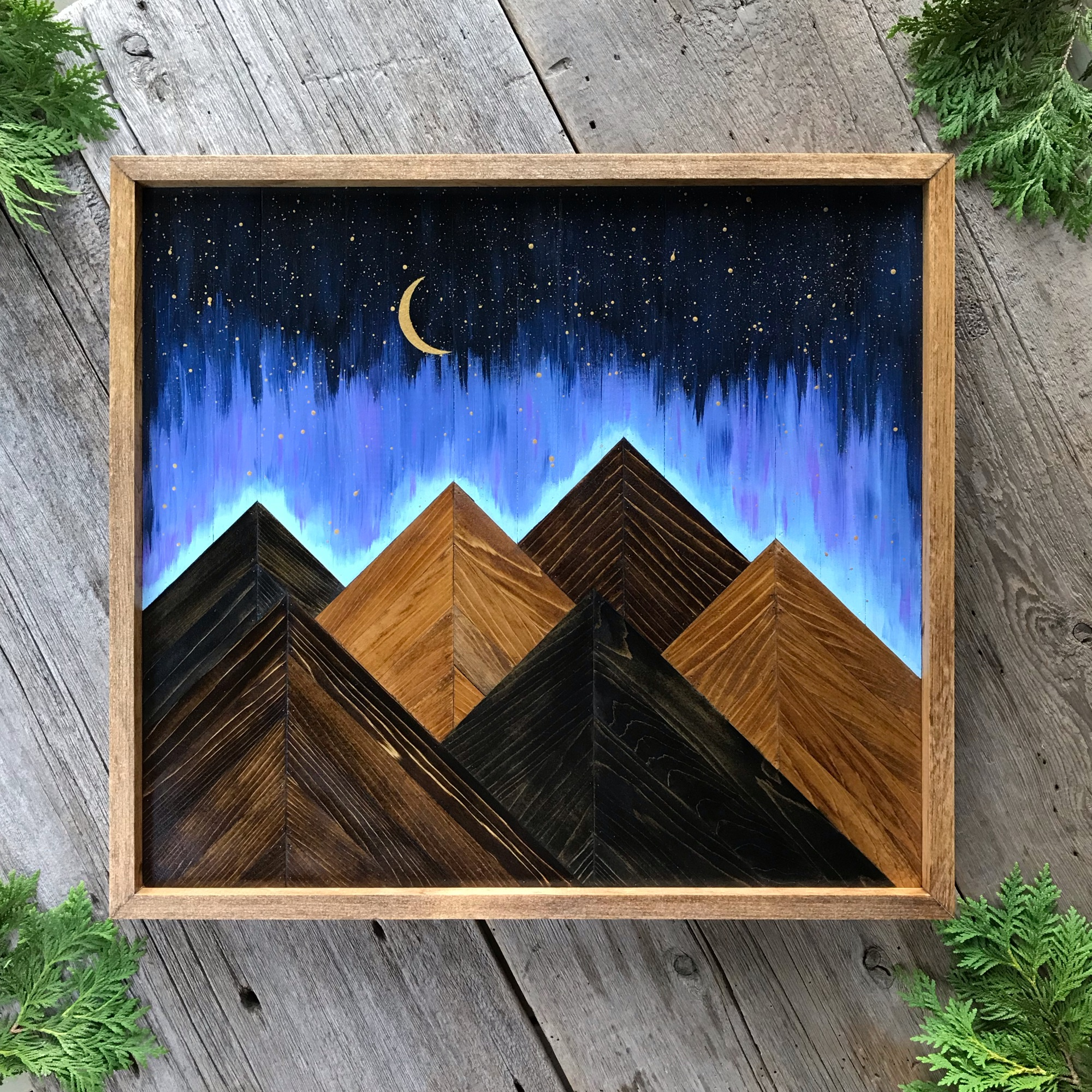Mountains, Mountain Art, Mountain Landscapes, Wood Wall Art