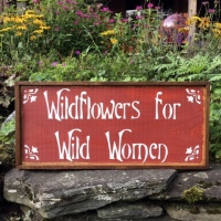 Gift for Her, Boho Gift Ideas, Wildflowers for Wild Women, Garden Signs, Handmade Signs, Garden Decor, Wall Art, Boho, Bohemian Decor, Crow Bar D'signs