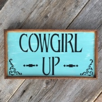 Wood Signs, Cowgirl Decor, Western Home Decor, Stenciled Signs, Rustic Home Accents, Cowgirl Up, Crow Bar D'signs
