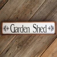 Garden Shed Sign, Handmade Wood Signs, Garden Decor, Gift For Gardeners, Cottage Chic Home Decor, French Country Style Decor, Home and Living, Rustic Signs
