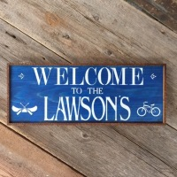 Custom Welcome Signs, Personalized Family Signs, Outdoor Living Space Decor Ideas, Signs for the Home, Lake and Lodge Style Decor, Mountain Living Decor Ideas, Cottage Style Signs, Personalized Wood Signs, Welcome