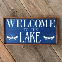 Country Living Style Decor, Cabin Signs, Lake Sign, Welcome Signs and Home Decor, Cottage Style Decor, Lake and Lodge Style, Home Decorating Ideas, Wood Wall Signs, Handmade by Crow Bar D'signs