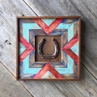 Interior Accents for the Southwestern Style Home, Pieced Wood Wall Art, Horse and Equine Decor, Chevron Designs, Handmade Wall Decor for the Home, Decorative Wall Decor, Southwest Design Ideas