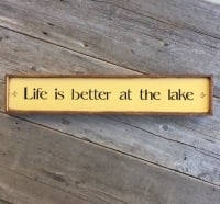 Lake Signs, Life Quotes, Hand Painted Signs, Outdoor Signs, Cabin Signs, Mountain Lodge Decor
