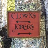 Clowns and Jokers, Song Lyrics from Classic Rock Songs, Gift For Music Lovers, Handmade Wood Signs, Bar Signs, Home Bar Decor Ideas, Rustic Style Wood Signs