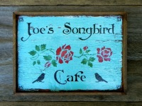 Custom Wood Signs, Personalized Wood Signs, Custom Business Signs, Customized Handmade Signs, Personal Messages on Wood, Cafe Signs, Signs for the Outdoors, Floral Stencils, Rose Stencils, Bird Stencils, Handcrafted Signs by Crow Bar D'signs