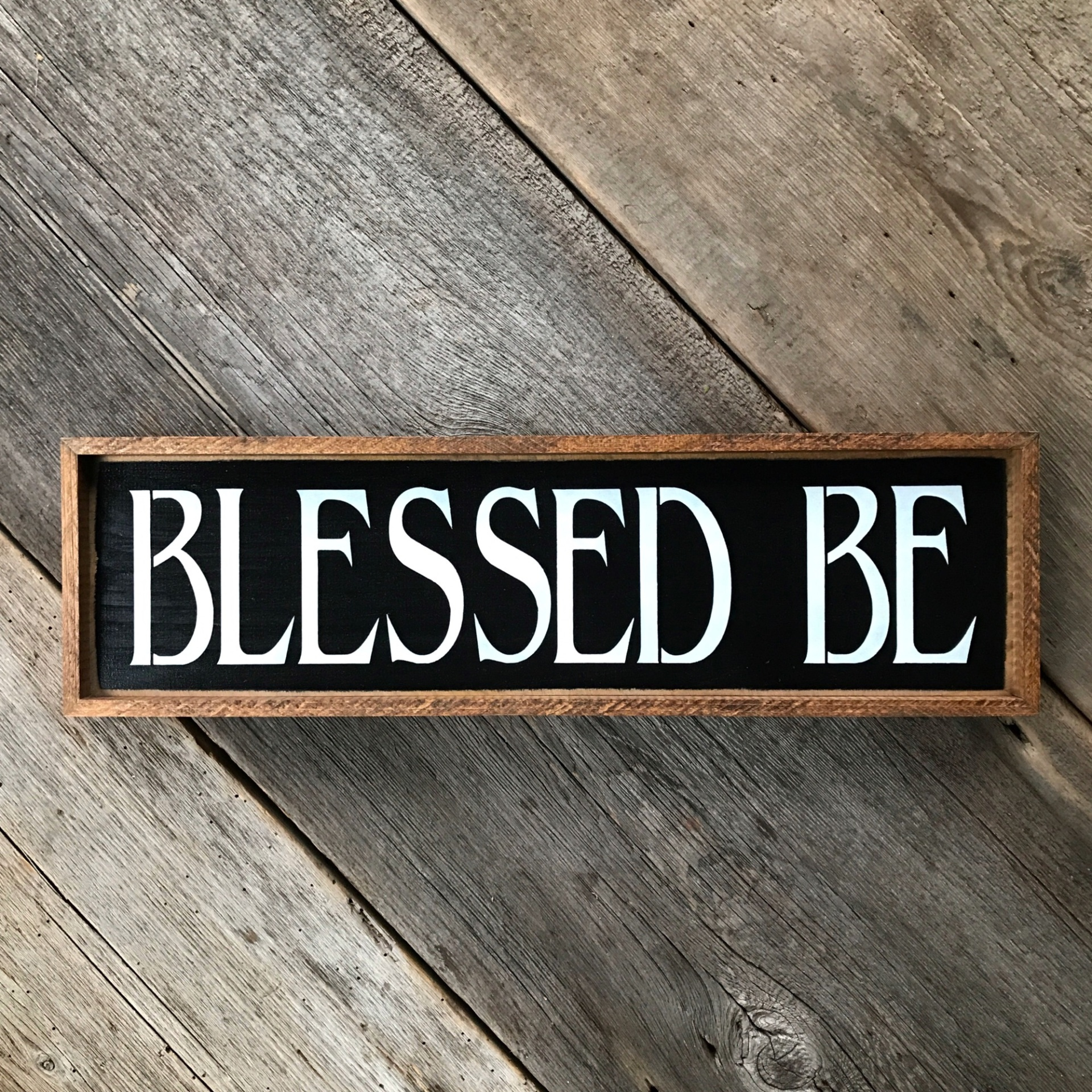 Blessed Be, Wiccan Phrases, Wood Sign, Front Door, Entryway, Porch Decor