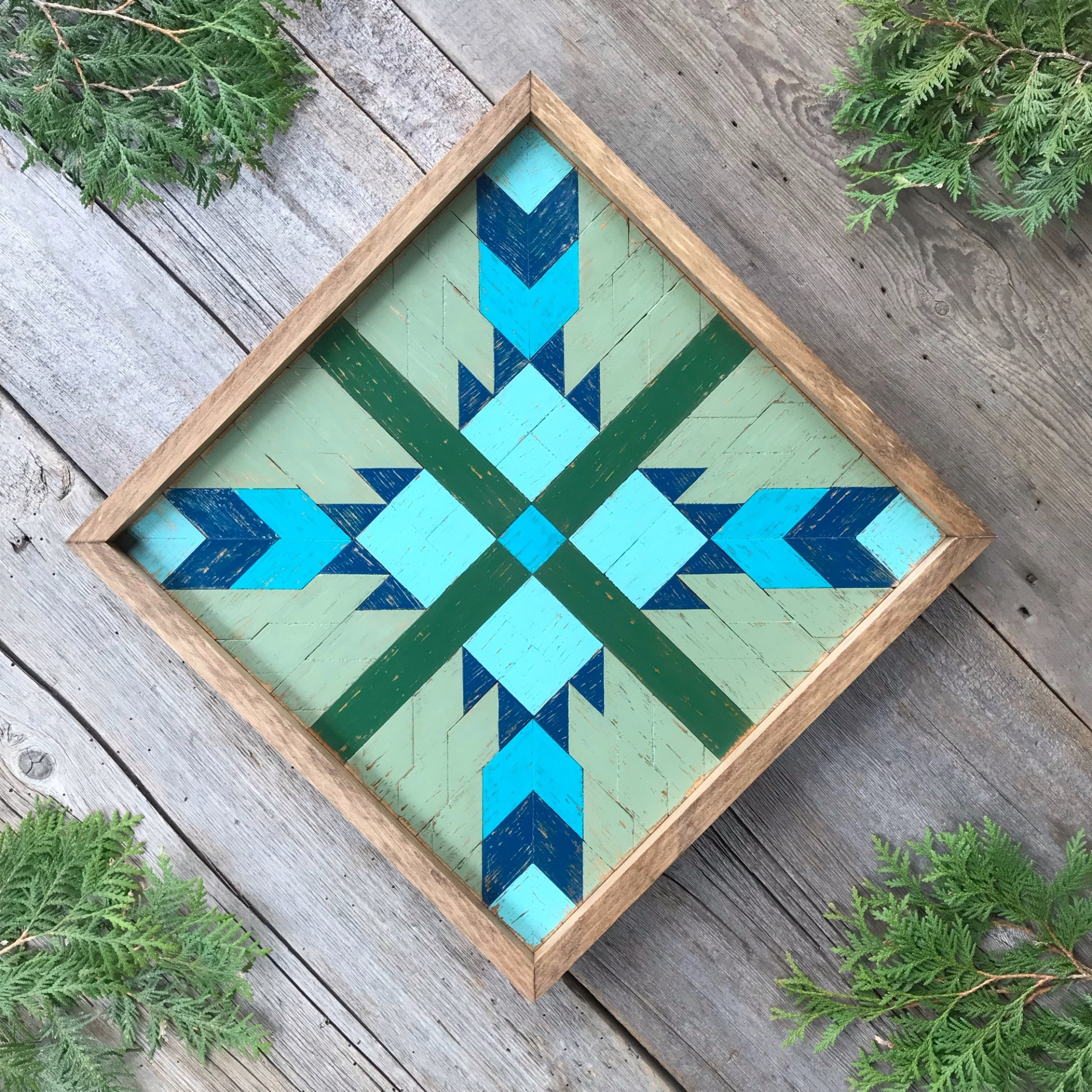 Barn Quilt, Wood Wall Art, Geometric Patterns, Colorful Barn Quilts, Barn Quilt Square