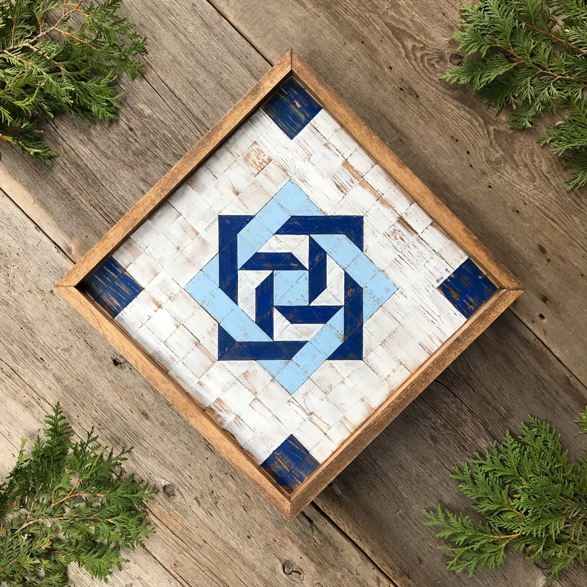 Barn Quilts, Wood Barn Quilt, Quilt Wall Art, Geometric Patterns, Slip Knot Quilt Square, Wood Quilt Block