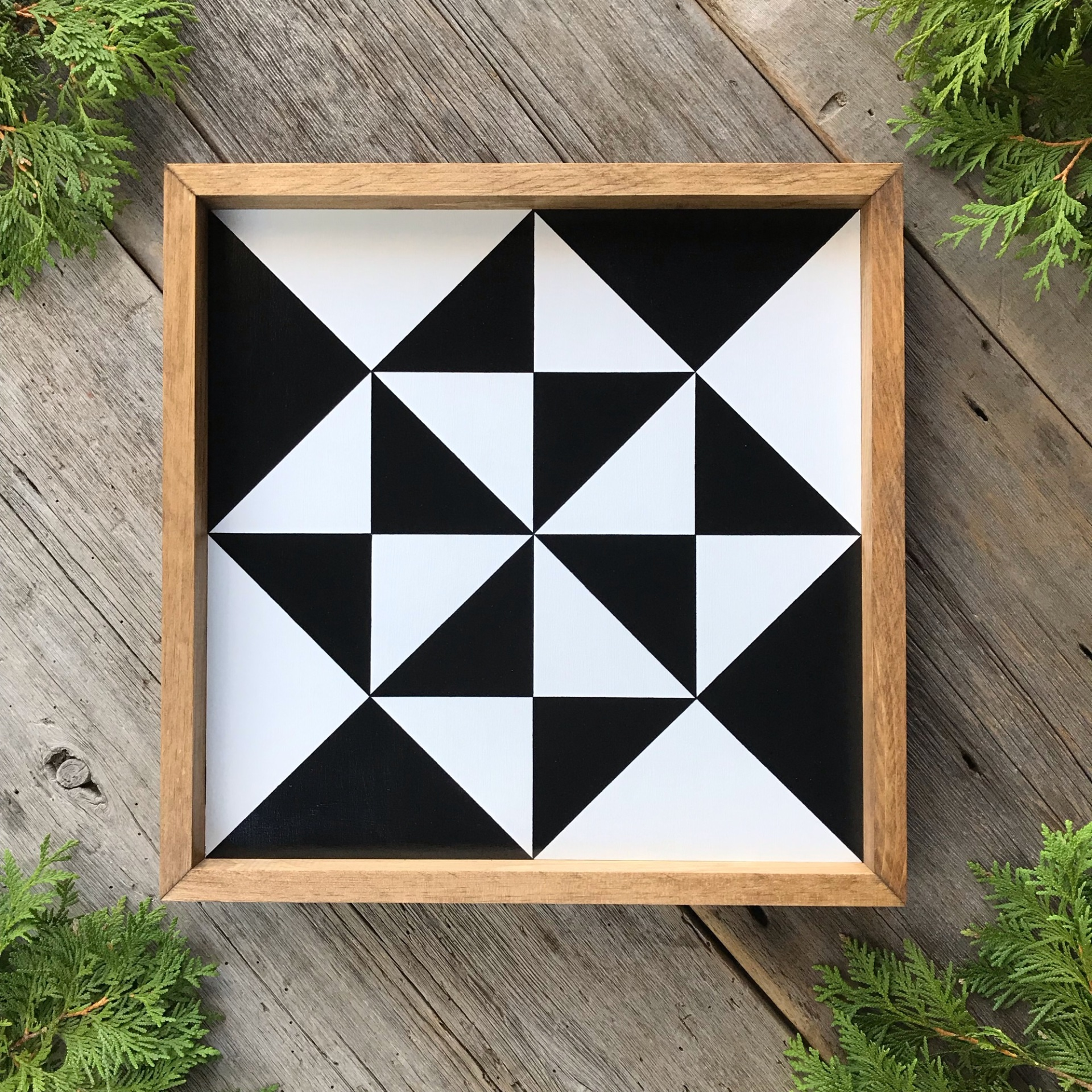 Barn Quilt, Wood Wall Art, Wood Barn Quilt Square, Quilt Wall Art, Peace and Plenty Quilt Square
