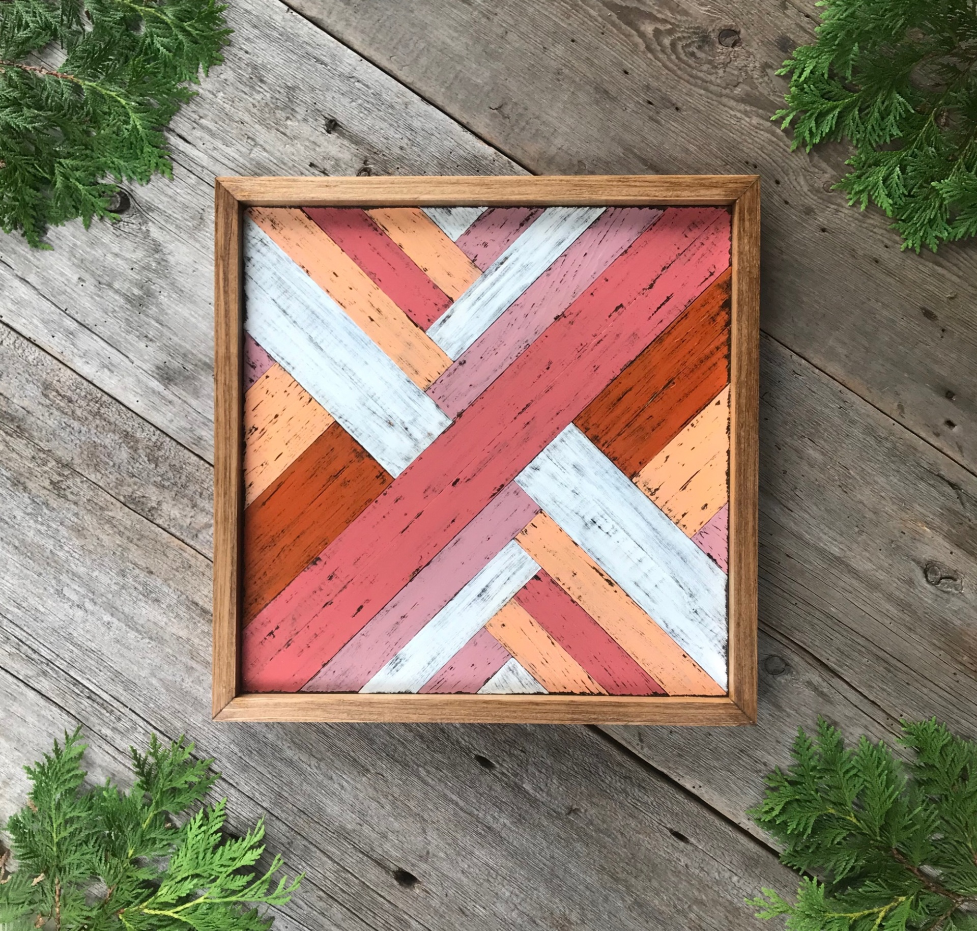 Barn Quilt, Wood Wall Art, Barn Quilt Square, Quilt Block, Colorful Wall Hanging